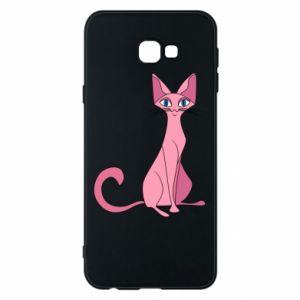 Etui na Samsung J4 Plus 2018 Pink eared cat