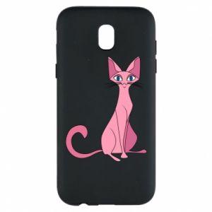 Etui na Samsung J5 2017 Pink eared cat