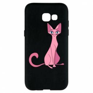 Etui na Samsung A5 2017 Pink eared cat