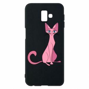 Etui na Samsung J6 Plus 2018 Pink eared cat