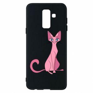Etui na Samsung A6+ 2018 Pink eared cat