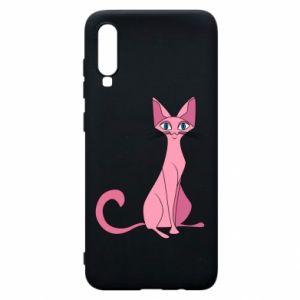Etui na Samsung A70 Pink eared cat