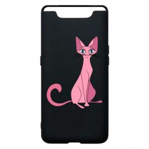 Etui na Samsung A80 Pink eared cat