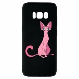 Etui na Samsung S8 Pink eared cat