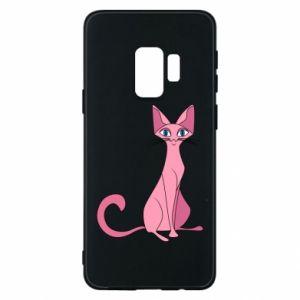 Etui na Samsung S9 Pink eared cat