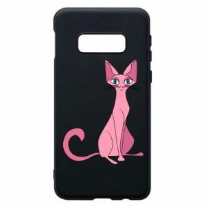 Etui na Samsung S10e Pink eared cat