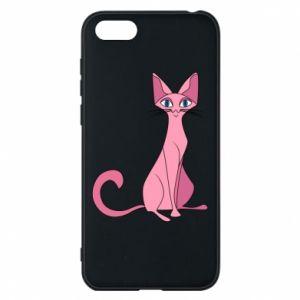 Etui na Huawei Y5 2018 Pink eared cat