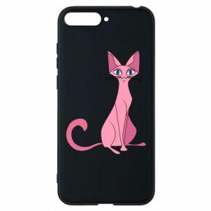 Etui na Huawei Y6 2018 Pink eared cat