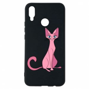 Etui na Huawei P Smart Plus Pink eared cat
