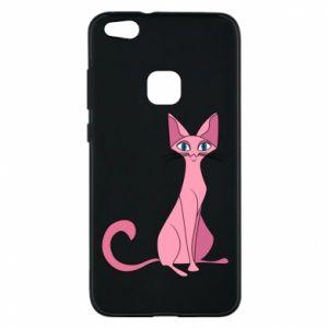 Etui na Huawei P10 Lite Pink eared cat