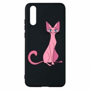 Etui na Huawei P20 Pink eared cat