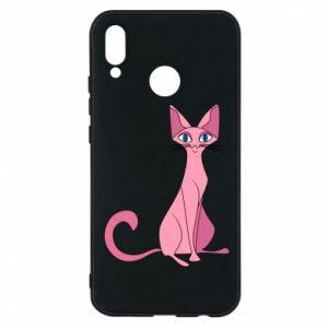 Etui na Huawei P20 Lite Pink eared cat