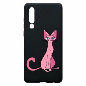 Etui na Huawei P30 Pink eared cat