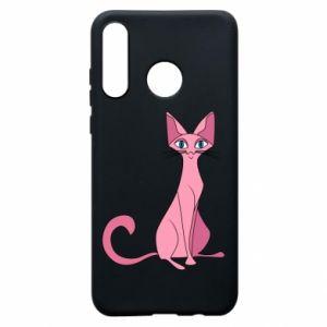Etui na Huawei P30 Lite Pink eared cat