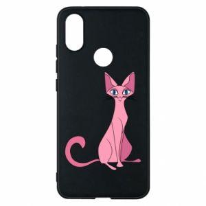 Etui na Xiaomi Mi A2 Pink eared cat