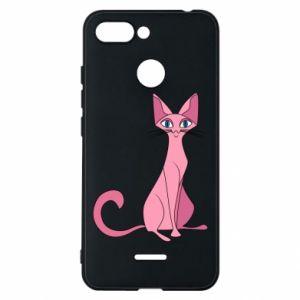 Etui na Xiaomi Redmi 6 Pink eared cat