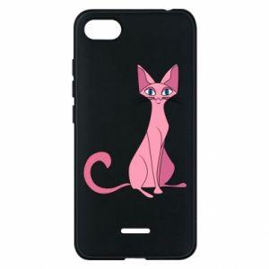 Etui na Xiaomi Redmi 6A Pink eared cat
