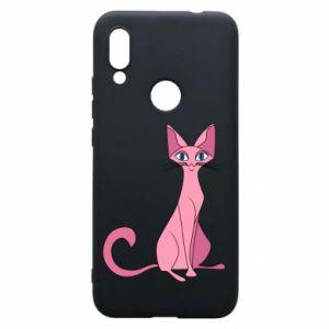 Etui na Xiaomi Redmi 7 Pink eared cat