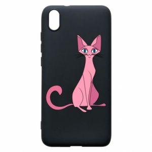 Etui na Xiaomi Redmi 7A Pink eared cat