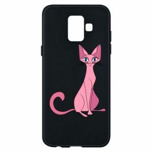 Etui na Samsung A6 2018 Pink eared cat