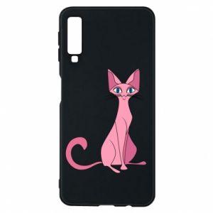 Etui na Samsung A7 2018 Pink eared cat