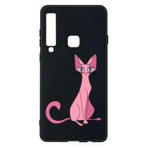 Etui na Samsung A9 2018 Pink eared cat