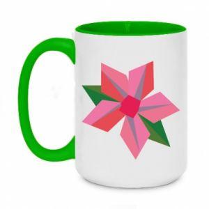 Kubek dwukolorowy 450ml Pink flower abstraction