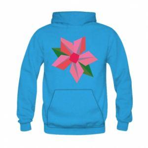 Bluza z kapturem dziecięca Pink flower abstraction