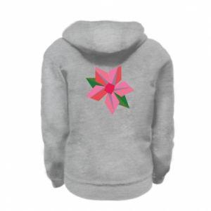Bluza na zamek dziecięca Pink flower abstraction