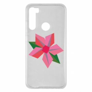 Etui na Xiaomi Redmi Note 8 Pink flower abstraction