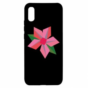 Etui na Xiaomi Redmi 9a Pink flower abstraction