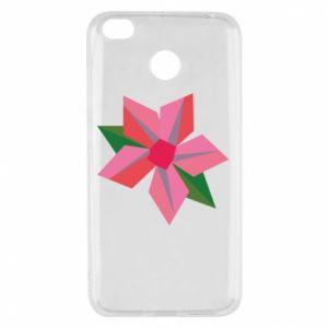 Etui na Xiaomi Redmi 4X Pink flower abstraction