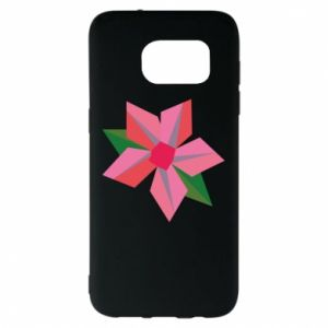 Etui na Samsung S7 EDGE Pink flower abstraction