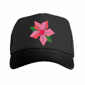 Czapka trucker Pink flower abstraction