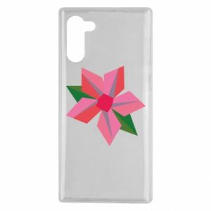 Etui na Samsung Note 10 Pink flower abstraction