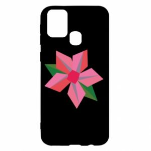 Etui na Samsung M31 Pink flower abstraction