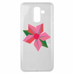 Etui na Samsung J8 2018 Pink flower abstraction