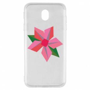 Etui na Samsung J7 2017 Pink flower abstraction