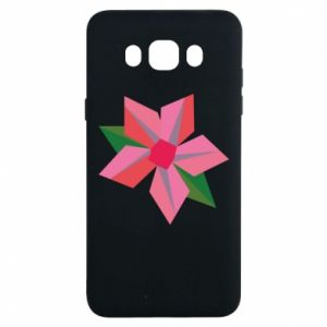 Etui na Samsung J7 2016 Pink flower abstraction