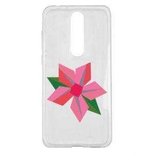 Etui na Nokia 5.1 Plus Pink flower abstraction