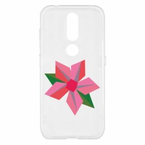 Etui na Nokia 4.2 Pink flower abstraction