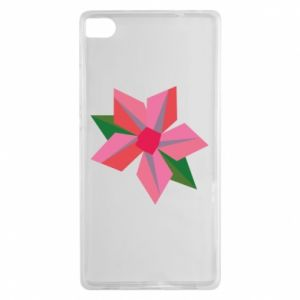 Etui na Huawei P8 Pink flower abstraction