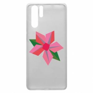 Etui na Huawei P30 Pro Pink flower abstraction