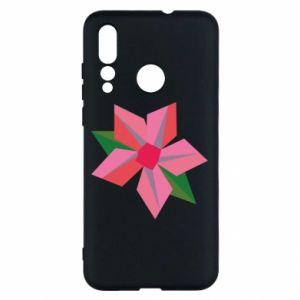 Etui na Huawei Nova 4 Pink flower abstraction