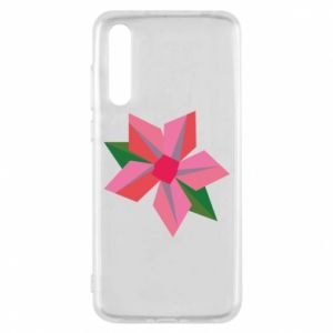 Etui na Huawei P20 Pro Pink flower abstraction