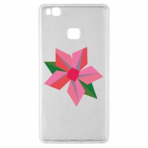 Etui na Huawei P9 Lite Pink flower abstraction