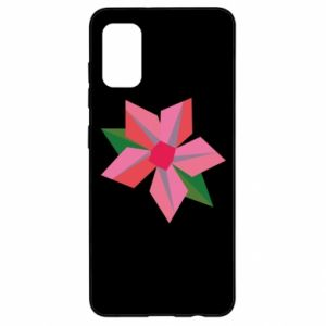 Etui na Samsung A41 Pink flower abstraction