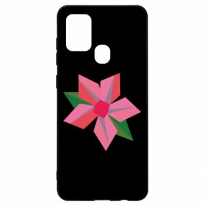 Etui na Samsung A21s Pink flower abstraction