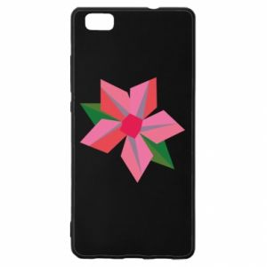 Etui na Huawei P 8 Lite Pink flower abstraction