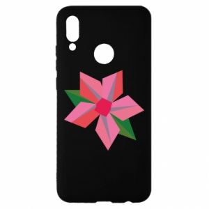 Etui na Huawei P Smart 2019 Pink flower abstraction